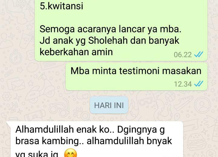 Testimoni Konsumen Aqiqah Cinta Tangerang 1